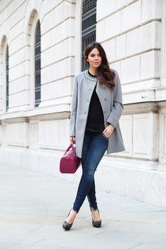 #fashion #fashionista @Irene Hoffman Colzi cappotto grigio look