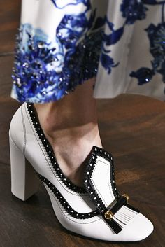 Ornate Shoes | Tory Burch Fall/Winter 2017 (Photo by Victor VIRGILE/Gamma-Rapho via Getty Images)  via @AOL_Lifestyle Read more: https://www.aol.com/article/lifestyle/2017/02/17/8-biggest-trends-new-york-fashion-week-fall-2017/21716456/?a_dgi=aolshare_pinterest#fullscreen