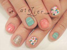 ネイルスナップ更新 BEER!! | 飯田絵里花 Top Knot, Cute Nails, Nail Designs, Nail Polish, Nail Art, Fukushima, Makeup, Atelier, Pretty Nails