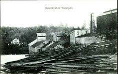 Aust-Agder fylke Lillesand kommune Kalvild Øvre Træsliperi. Nærmotiv Utg A/S Stavanger forenede Fotografer tidlig 1900-tall