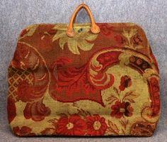 Vintage Orange Damask Therapist Bag