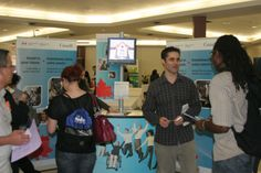 Students looking for part-time and volunteer positions convened in Salon A of Algonquin College's Marketplace Food Court between 10:30 a.m. and 1 p.m. today to network with employers, find part-time employment on or off campus, volunteer in the community, or join a club on campus. Read more on myAlgonquin!