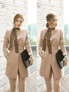 Wholesale Autumn Solid Color V-neck OL Style Formal Suits EHG082845 | Wholesale7.net Formal Suits, Cold Weather Outfits, Latest Fashion, Autumn Fashion, Fall Winter, V Neck, Shopping, Color, Style