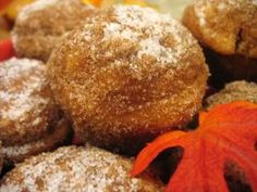 Dirt Bombs... with apples! A cross between a doughnut and a muffin... YUM!