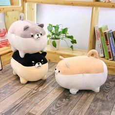 Chien Shiba Inu, Valentines Presents, Kawaii Accessories, Dog Accessories, Cute Stuffed Animals, Cute Pillows, Dog Pillows, Pillow Pets, Plush Animals