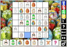 Easter Sudoku | Digipuzzle.net Easter Games, Calendar, Play, Holiday Decor, Life Planner