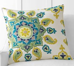 Brea Embroidered Pillow Cover | Pottery Barn