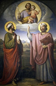 Giclee Print: Saints Cosmas and Damian with St Joseph and the Child Jesus by Alessandro Massimiliano Seltz : St Joseph, Religious Images, Celestial, Find Art, Framed Artwork, Giclee Print, Catholic, Saints, Art Prints