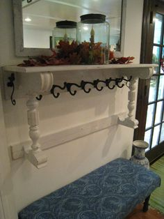 Repurposed For Life: COAT RACK FROM PIANO PARTS