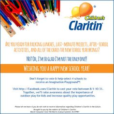 Allergy tips from Clairitin for Back-to-School