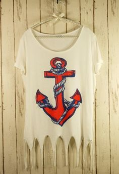 Anchor torn shirt!