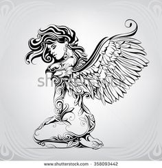 The girl with wings of an eagle
