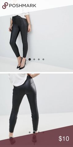44c5edefbbe216 Shop Women's ASOS Black size Ankle & Cropped at a discounted price at  Poshmark. Description: Faux leather look pants.