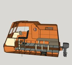 Building a tiny house boat from plywood and epoxy Speed Boats, Power Boats, Boat Projects, Cool Campers, Boat Building Plans, Whitewater Kayaking, Boat Stuff, Canoe Trip, Yacht Design