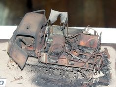 Rusted Out Wreck by one of the many talented Modelers at QM&HE Show held in Brisbane 2013