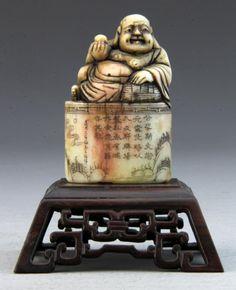 Chinese Soapstone Buddha Sealchop
