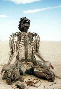 Burning Man Festival sculpture
