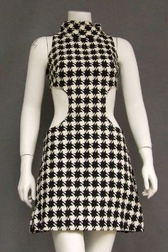1960's houndstooth with cut outs