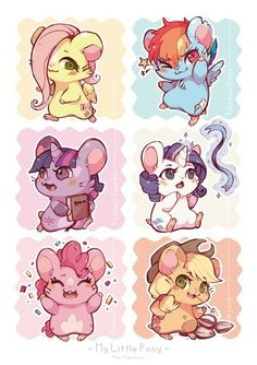 Mlp in the style of Hamtaro