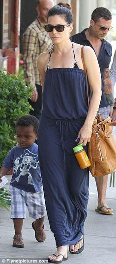 Maxi dress_Sandra Bullock
