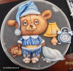 Картина панно рисунок Мастер-класс Лепка Мк Медвежонок часть2 Краска Тесто соленое фото 23
