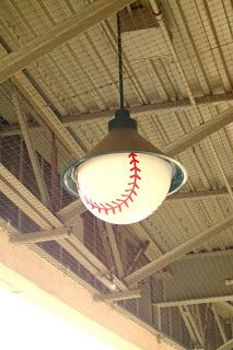 OMG THIS IS AWESOME!  {Pinner says: Baseball lights @ Sacramento River Cats game}