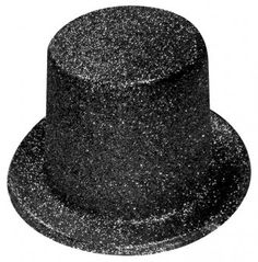 Black Glitter Top Hat - Hollywood Party Decoration Ideas