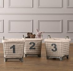 Industrial baskets + liners (set of 3)
