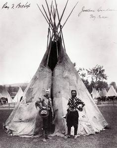 Pendleton Round-Up founder Roy Bishop (left) and Jackson Sundown of the Nez Perce Tribe  Pendleton Woolen Mills, Pendleton, Or.