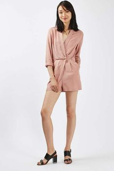 Pin Dot Wrap Playsuit - New In- Topshop