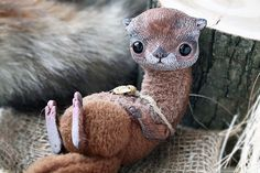 Curious Creatures, Magical Creatures, Fantasy Creatures, Clay Dolls, Art Dolls, Otter Love, Sea Otter, Doll Repaint, Otters