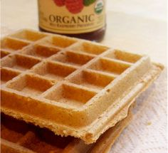 Nutty oatmeal blender waffles....we all loved these! Just oats, milk substitute (I used coconut milk), brown sugar, nut butter (I used pb), salt and baking powder.
