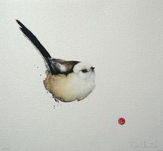Long-tailed Tit by Karl Mårtens - Litografier « Edition Vulfovitch
