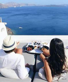 Imagen de Greece, summer, and vacation Santorini, Bro, Luxury Life, Cute Couples, Panama Hat, Greece, Diva, Relax, Vacation