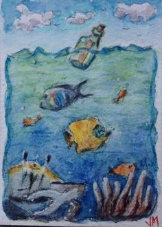 The Message ACEO Card Original artwork Watercolor  Painting ACEO  | eBay