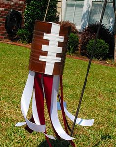 Make fun football windsocks from recycled cans! Great for game day :) @funfamilycrafts