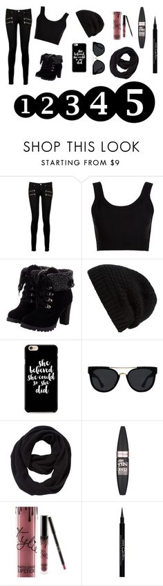 """""""Untitled #121"""" by electraz on Polyvore featuring Paige Denim, Calvin Klein Collection, Rick Owens, Quay, John Lewis, Maybelline, Kylie Cosmetics and Givenchy"""