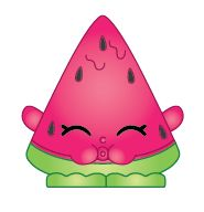 Melonie Pips (Shopkins 1-005, 1-012) Melonie Pips is a dark pink watermelon, puckering her lips as if to spit seeds out. Her variant is colored yellow. Melonie Pips is an ultra rare Fruit & Veg Shopkin from Season One.