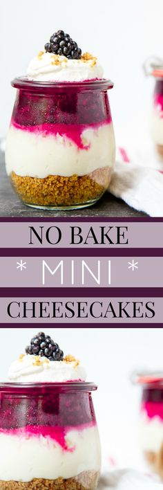 Small batch cheesecakes. Mini cheesecakes made in mason jars for two. The cutest dessert for two! Use any fruit to make the cheesecake topping!