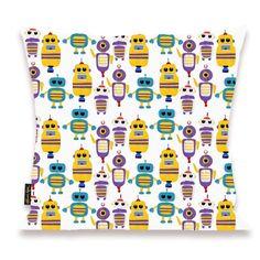 Robots Everywhere! Pillow - Oliver Gal Art