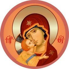 Mother of God of Vladimir - Self-Adhesive Icons - Self-Adhesive Icon from the Workshop of St. Elisabeth Convent - Available in a Variety of Colors - Byzantine Icons, Byzantine Art, Orthodox Catholic, Catholic Art, Blessed Mother Mary, Blessed Virgin Mary, Religious Icons, Religious Art, Virgin Mary