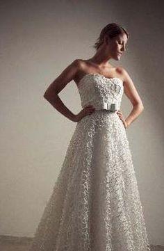 Francesca Miranda - Sweetheart A-Line Gown in Lace