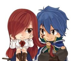 """❤️ Erza et Jellal """"ChiBi """" ~ Fairy Tail<<lol cute. I'd be that mean kid that tugged jut to see what would happen Fairy Tail Ships, Art Fairy Tail, Image Fairy Tail, Fairy Tail Amour, Fairy Tail Love, Fairy Tail Guild, Fairy Tail Anime, Fairy Tales, Erza Y Jellal"""
