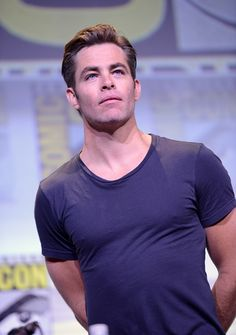 Actor Chris Pine attends the Warner Bros 'Wonder Woman' Presentation during ComicCon International 2016 at San Diego Convention Center on July 23...