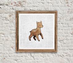 ANIMAL PRINT: DEER Deer Print Deer Art Woodland by SITMPrintables