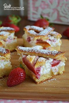 Barbi konyhája: Túróhabos-, epres kelt tészta Winter Food, Cake Cookies, Macarons, French Toast, Food And Drink, Baking, Breakfast, Foods, Instagram