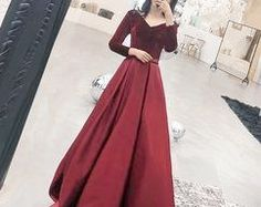 2018 Long Sleeve Gold Prom Dresses,Long Evening Dresses,Prom Dresses On Sale Want a glamorous red carpet look for a fraction of the price? Gold Prom Dresses, Prom Dresses For Sale, A Line Prom Dresses, Formal Dresses For Women, Sexy Dresses, Fashion Dresses, Bridesmaid Dresses, Prom Gowns, Dress Prom