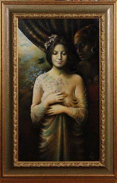"Rea Šimlíková  ""Zeus and Danae"" ,2008, oil on canvas, 750:500"