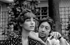 Birkin-Gainsbourg : j'adore ce portrait, la coiffure de Jane, leurs yeux. Si jeunes, si lumineux...
