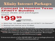 See money saving bundle offers before you choose xfinity internet packages. We are largest provider of cable internet access in texas.